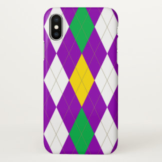 MardiGras Argyle iPhone X Case