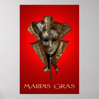 Mardis Gras 36 x 24 Poster