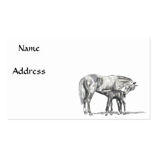 Mare and Foal Business Card Templates