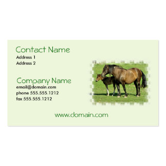 Mare and Foal Business Card