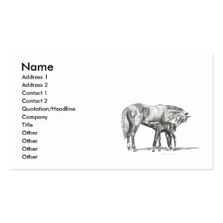 Mare and Foal Business Cards