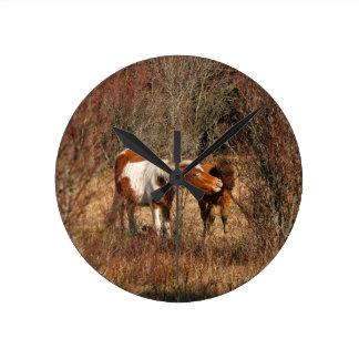Mare and Foal Wallclocks