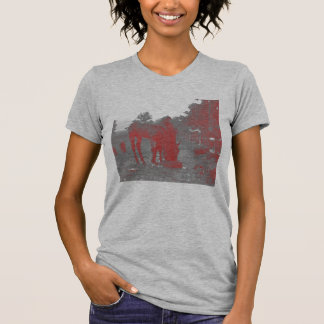 mare and foal crayon shirt