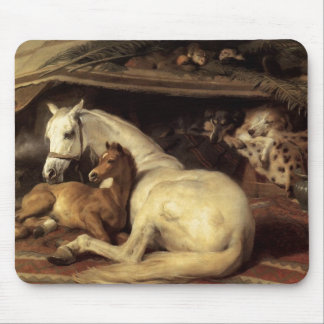 Mare and foal mouse pad