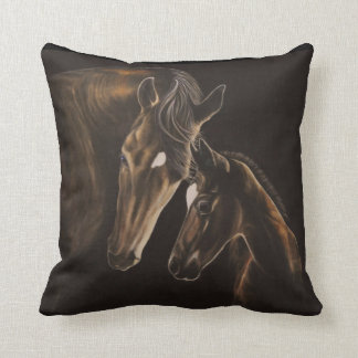 Mare and foal pillow