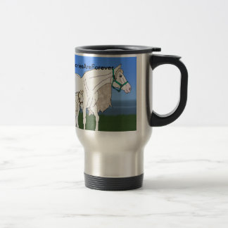 Mare and Foal Stainless Steel Travel Mug