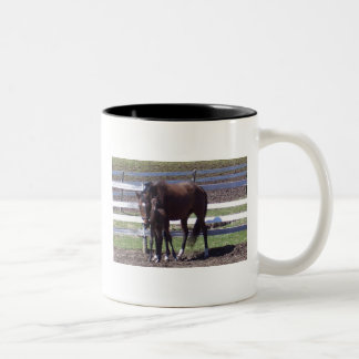 Mare and foal Two-Tone mug