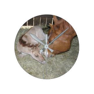 Mare & Foal Clock