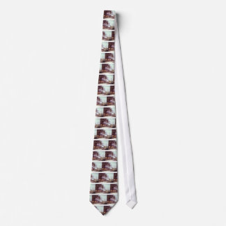Mares and Foals in a Mountainous Landscape Tie