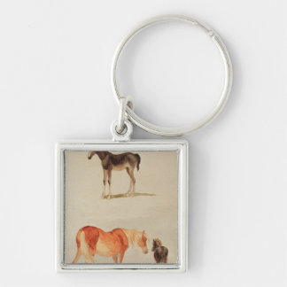 Mares and foals key chain