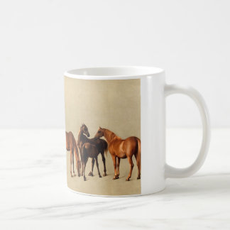 Mares and foals basic white mug