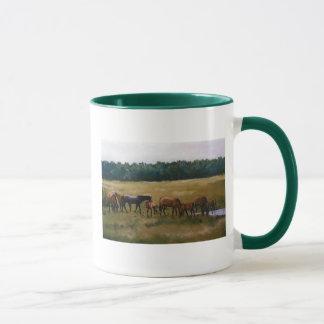 """Mares and Foals"" Original Art Mug"