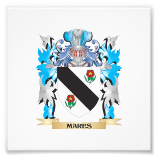 Mares Coat of Arms - Family Crest Art Photo