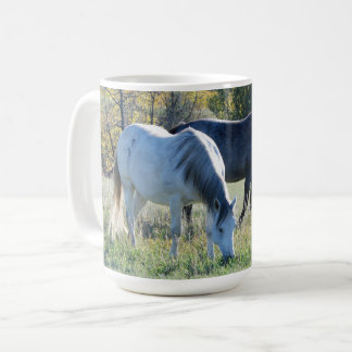 Mares Grazing - Theodore Roosevelt National Park Coffee Mug
