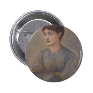 Margaret by Edward Burne-Jones Button