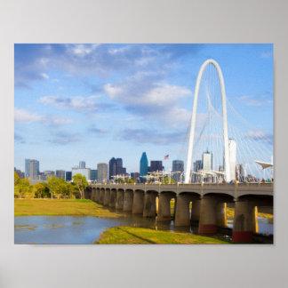 Margaret Hunt Bridge, Dallas, Texas Poster