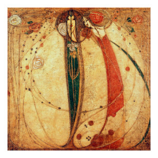 Margaret Macdonald White Rose Red Rose Poster