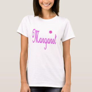 Margaret Name Pink Logo, T-Shirt