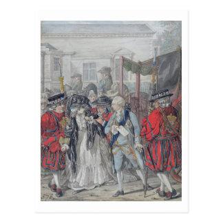 Margaret Nicholson Attempting to Assassinate His M Postcard