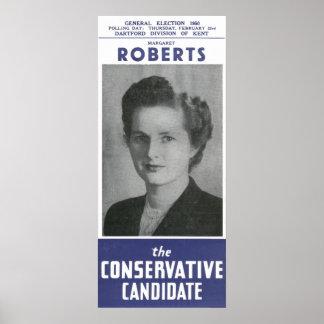 Margaret Roberts AKA Mrs Thatcher Election Poster