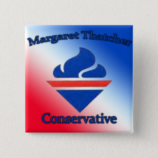 Margaret Thatcher Conservative 15 Cm Square Badge