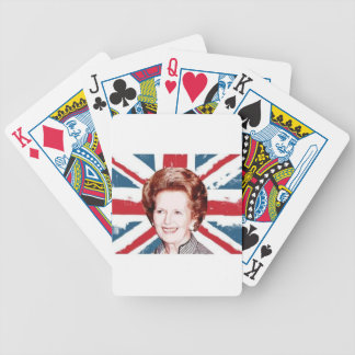 MARGARET THATCHER UNION JACK BICYCLE PLAYING CARDS
