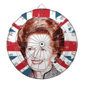MARGARET THATCHER UNION JACK DARTBOARD