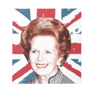 MARGARET THATCHER UNION JACK NOTEPAD