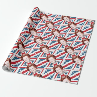 MARGARET THATCHER UNION JACK WRAPPING PAPER
