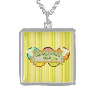Margarita bar sterling silver necklace