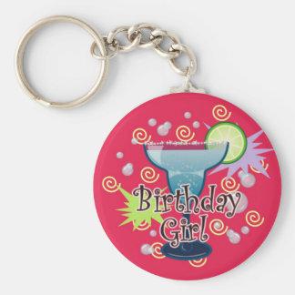 Margarita Birthday Girl Basic Round Button Key Ring