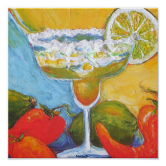 Margarita & Chili Peppers Fine Art Poster
