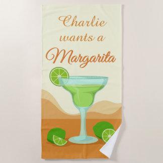 """""""Margarita"""" custom name beach towel"""