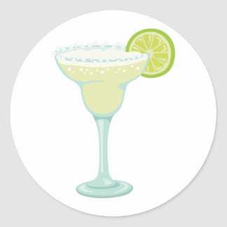 Margarita Drink Classic Round Sticker