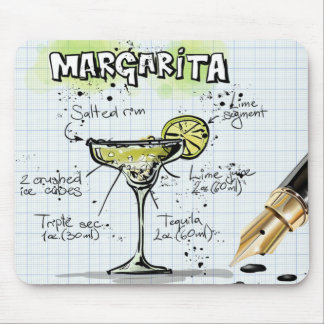 Margarita Drink- Cocktail Gift Mouse Pad