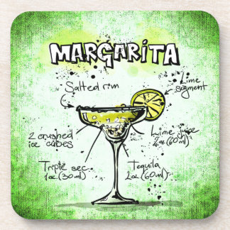 Margarita Drink Recipe Coaster