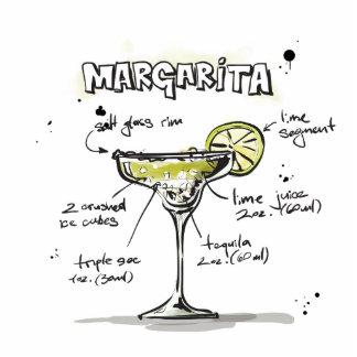 Margarita Drink Recipe Design Photo Sculpture Magnet
