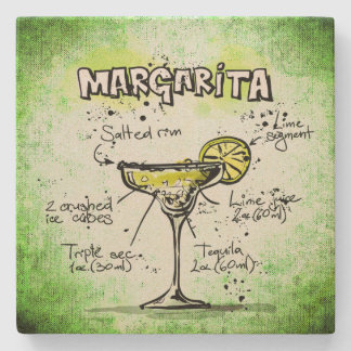 Margarita Drink Recipe Stone Coaster