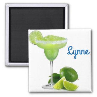 Margarita glass square magnet