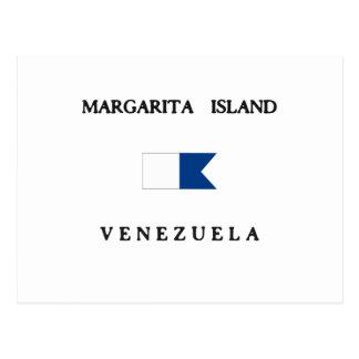 Margarita Island Venezuela Alpha Dive Flag Postcards