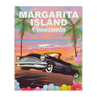 Margarita Island - Venezuela travel poster Acrylic Wall Art