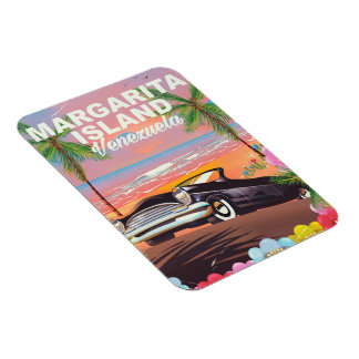 Margarita Island - Venezuela travel poster Rectangular Photo Magnet
