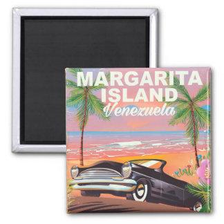 Margarita Island - Venezuela travel poster Square Magnet