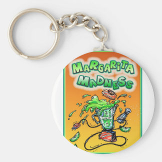 Margarita Madness for Cinco de Mayo Basic Round Button Key Ring
