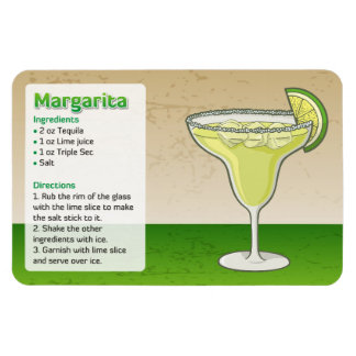 Margarita Rectangular Photo Magnet