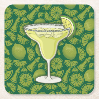Margarita Square Paper Coaster