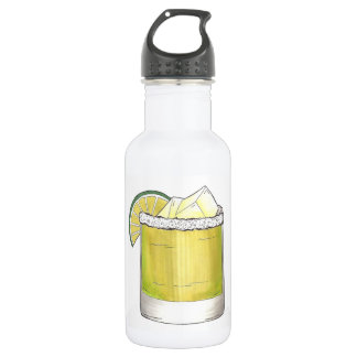 Margarita Summer Cocktail Mixed Drink Lime Green 532 Ml Water Bottle