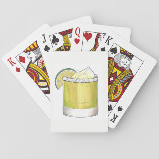 Margarita Summer Cocktail Mixed Drink Lime Green Playing Cards