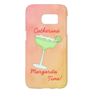 Margarita Time Name Personalized Peach Yellow