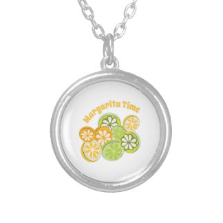 Margarita Time Round Pendant Necklace